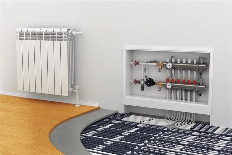 pompa di calore aria acqua e radiatori