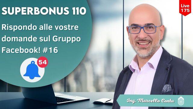 Rispondo alle domande ricevute sul Gruppo Facebook sul superbonus 110